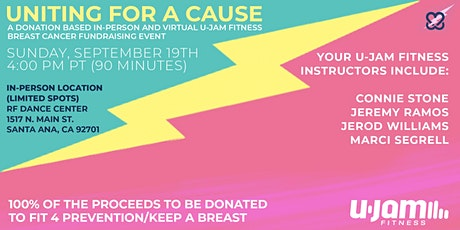 UNITED FOR A CAUSE - U-JAM FITNESS BREAST CANCER FUNDRAISING EVENT tickets