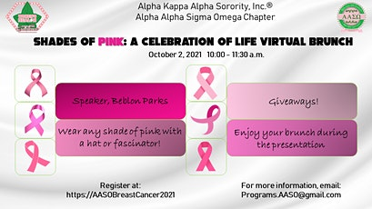 Shades of Pink: A Celebration of Life Virtual Brunch tickets