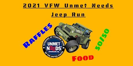 2021 VFW Unmet Needs Jeep Run tickets