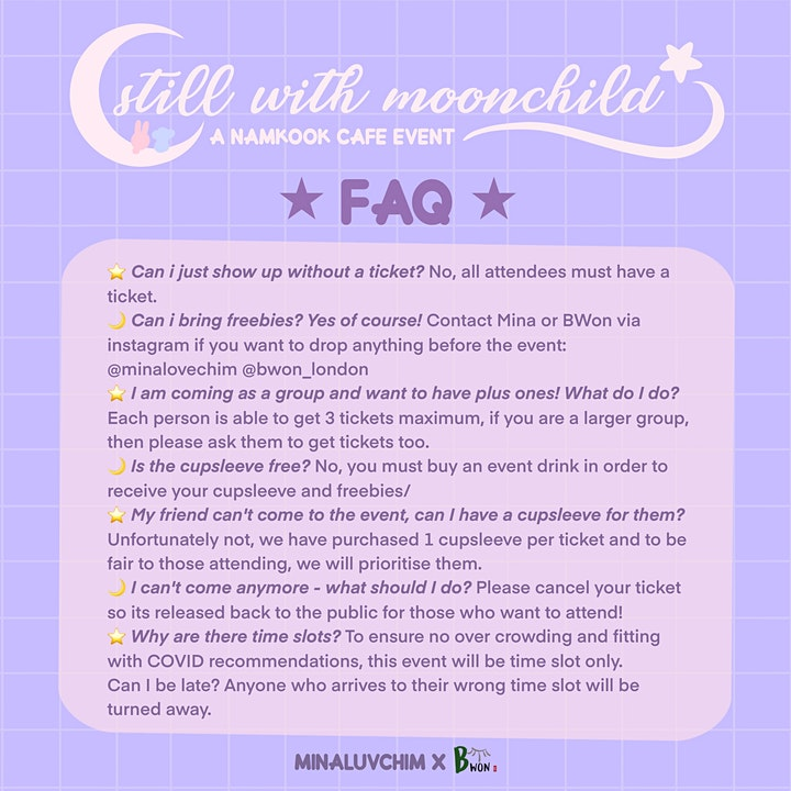 still with moonchild - a London Namkook birthday cafe event image