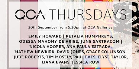 QCA Thursdays: 30th September 2021 tickets