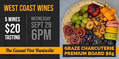 West Coast Wine Tasting & Charcuterie tickets