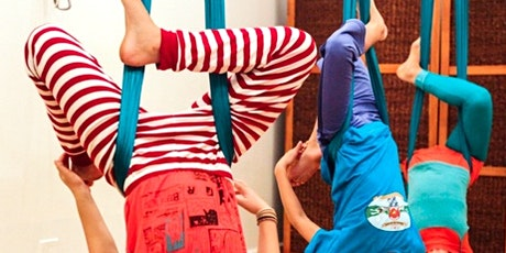 Family Aerial Yoga  October 7th School Holiday - parent  & child fun tickets