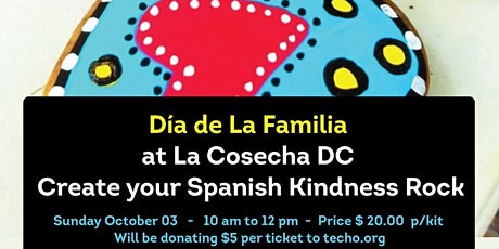 Create your Spanish Kindness Rock. Celebrating  Hispanic Heritage Month tickets