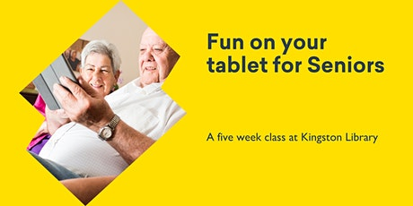 Fun on your tablet for Seniors @ Kingston Library tickets