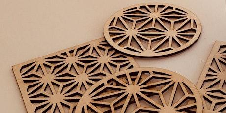 Laser Cut a Geometric Bookmark tickets