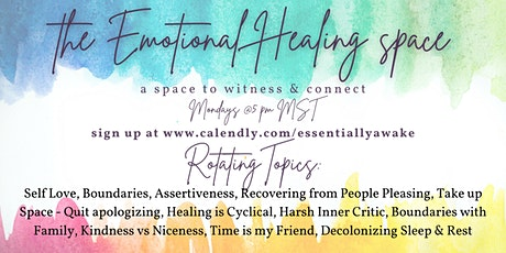 the Emotional Healing space tickets