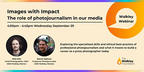 Images with Impact. The role of photojournalism in our media tickets