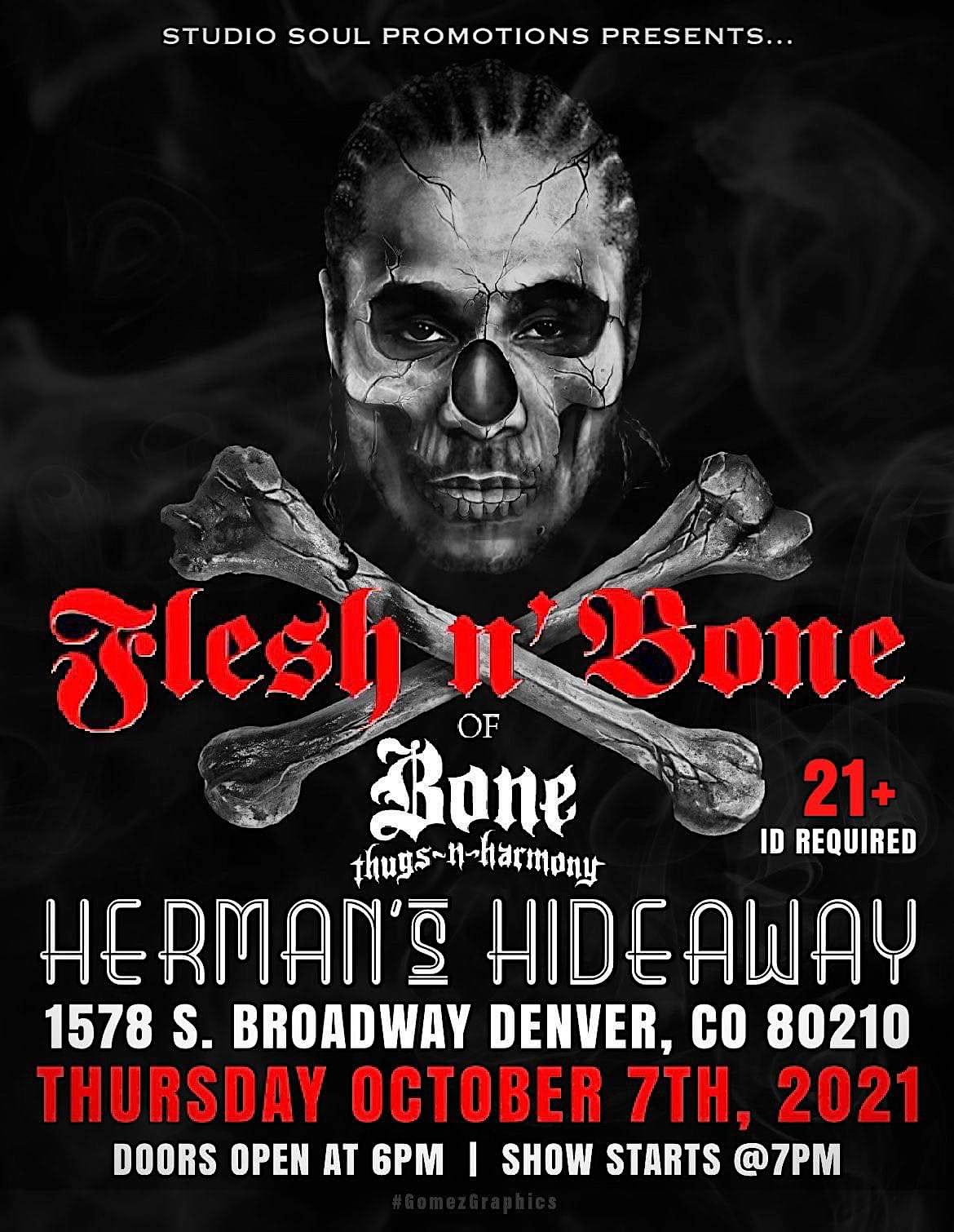Flesh-N-Bone Of Bone Thugs N Harmony. Live In Denv