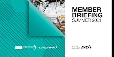 Member Briefing  Summer 2021- Wellington tickets