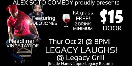 LEGACY LAUGHS @ LEGACY GRILL @ THE VILLAGES! tickets