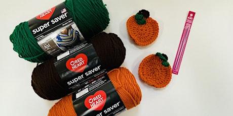 Crochet Pumpkin Coasters- Hilo tickets