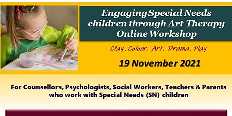 Engaging Special Needs children through Art Therapy  Online Workshop tickets