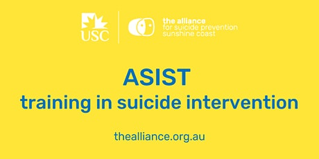 ASIST training in suicide intervention tickets