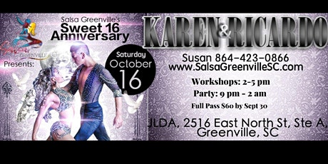Salsa Greenville Sweet 16 Anniversary Party tickets