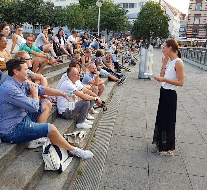 Stegreifredentraining auf dem Marienplatz in Stuttgart: Bild