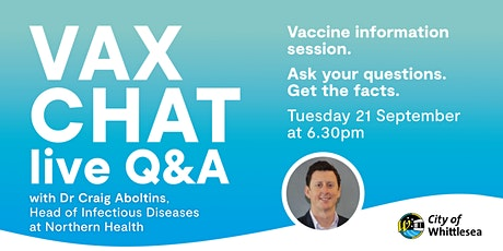 Vax Chat - Live Q&A Vaccination Information session tickets