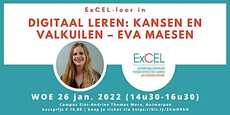 Digitaal leren: kansen en valkuilen – Eva Maesen tickets