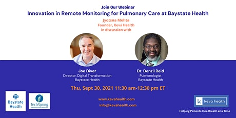 Innovation in Remote Monitoring for Pulmonary Care at Baystate Health tickets