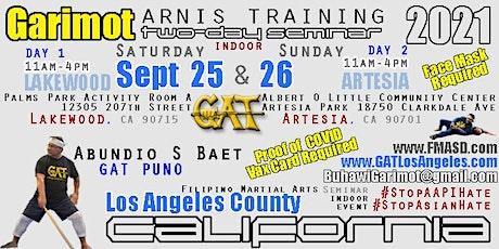 Garimot Arnis Training Seminar + Los Angeles tickets
