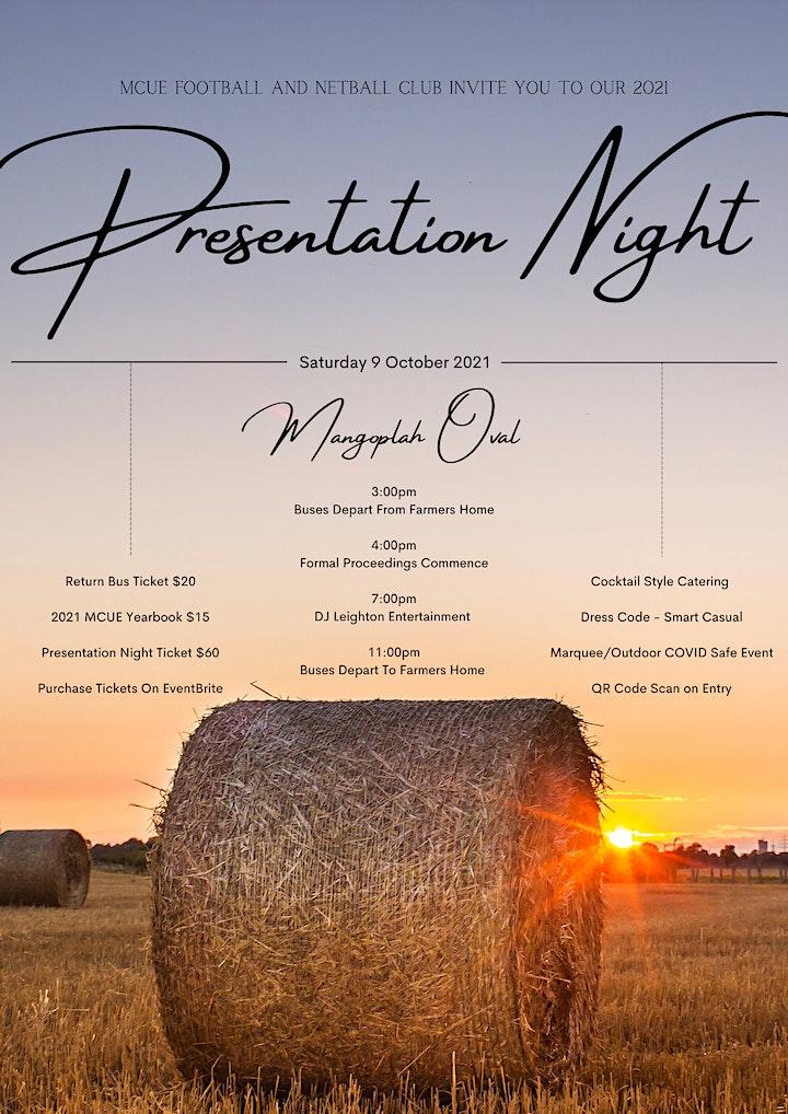 MCUE Presentation Night 2021 image