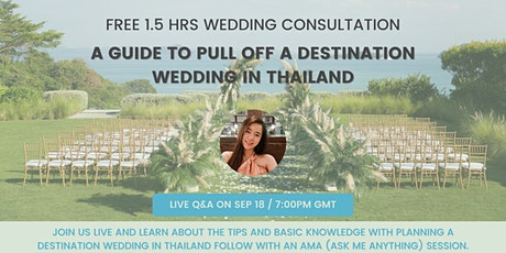 A Guide to Pull Off A Destination Wedding In Thailand tickets