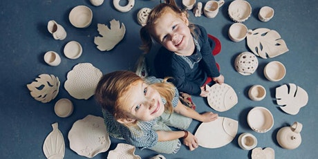 POTTERY WORKSHOP  - Hand building and Wheel Throwing for ages 8-10 tickets