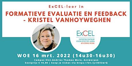 Formatieve evaluatie en feedback – Kristel Vanhoyweghen tickets