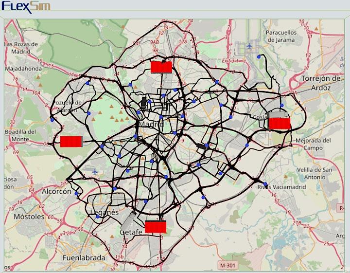Imagen de Webinar FlexSim Simulación. Módulo GIS - Sistema de Información Geográfica