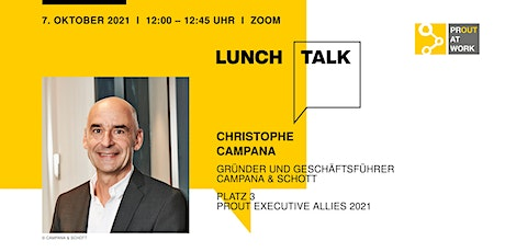 PROUT PERFORMER Lunch Talk mit Christophe Campana Tickets