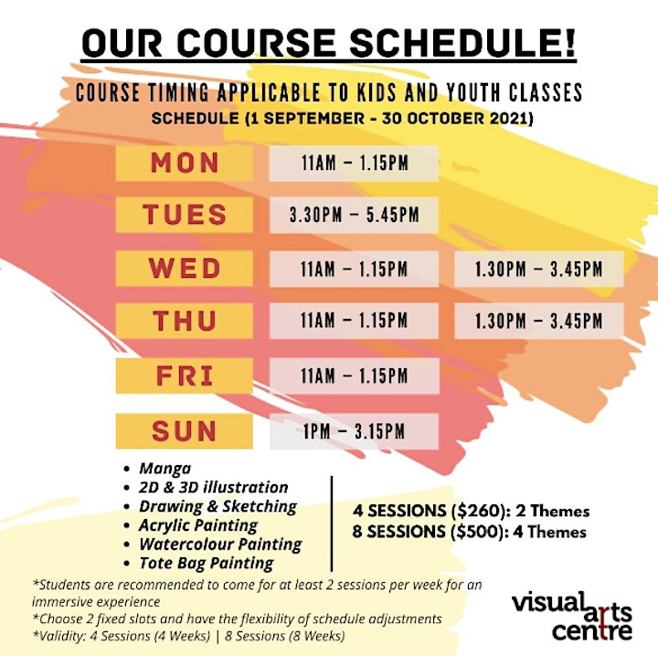 Holiday Art Immersion Course for Youths (8 Sessions) image