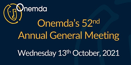 Onemda's 52nd Annual General Meeting tickets