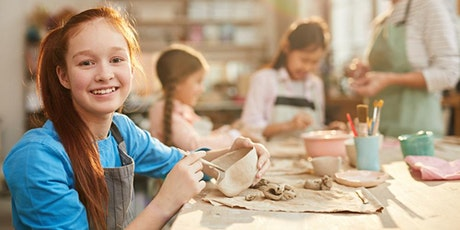 POTTERY WORKSHOP  - Hand building and Wheel Throwing for ages 11-12 tickets