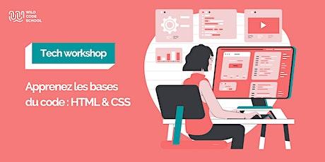 Tech Workshop - Apprenez les bases du code : HTML & CSS billets