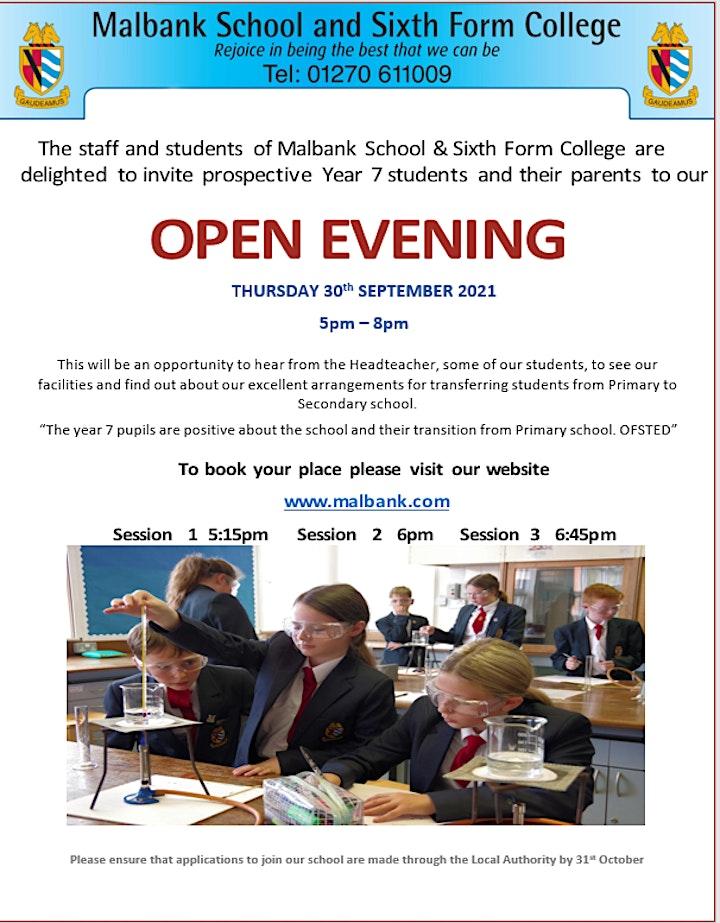 Malbank School Year 5/6 Open Evening image