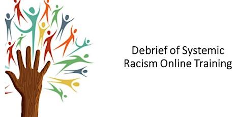 Systemic Racism Online Module Debrief tickets