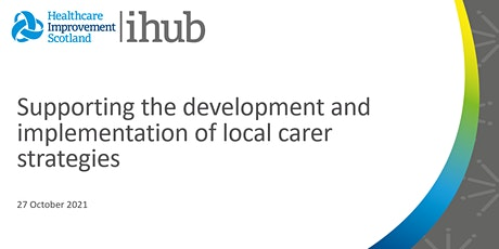 Supporting the development and implementation of local carer strategies tickets
