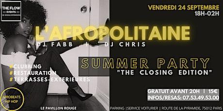 L'AFROPOLITAINE   18h-02h   FOOD & MUSIC   Pavillon Rouge (Vincennes) billets