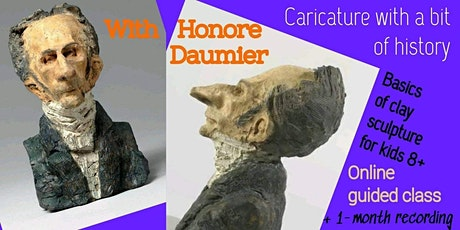 Clay Sculpture with Honore Daumier - Art Webinar for Kids 8+ tickets