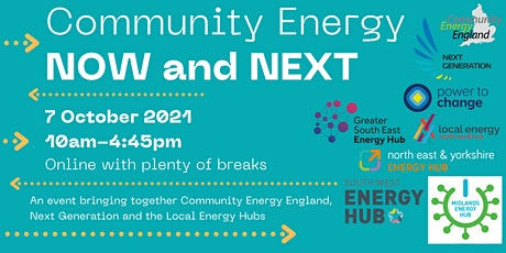 Community Energy: NOW and NEXT tickets