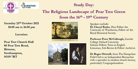 The Religious Landscape of Pear Tree Green from the 16th - 19th Century tickets