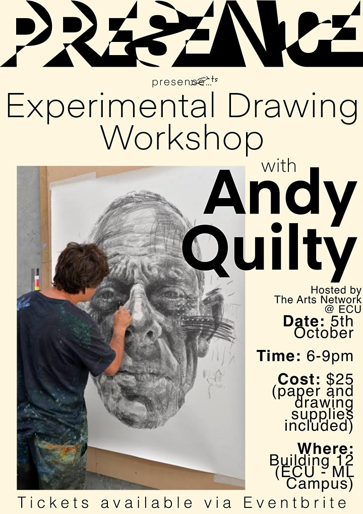 Andy Quilty Experimental Drawing Workshop @ ECU Mt Lawley image