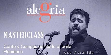 Curso de Cante Flamenco y Compás con Jose «el pechuguita» Tablao Alegria entradas