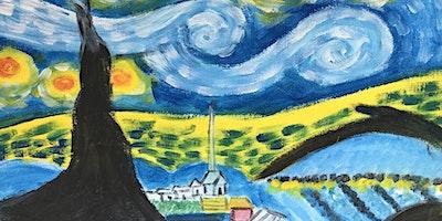 ONLINE Paint Along @ Home — Be a Van Gogh