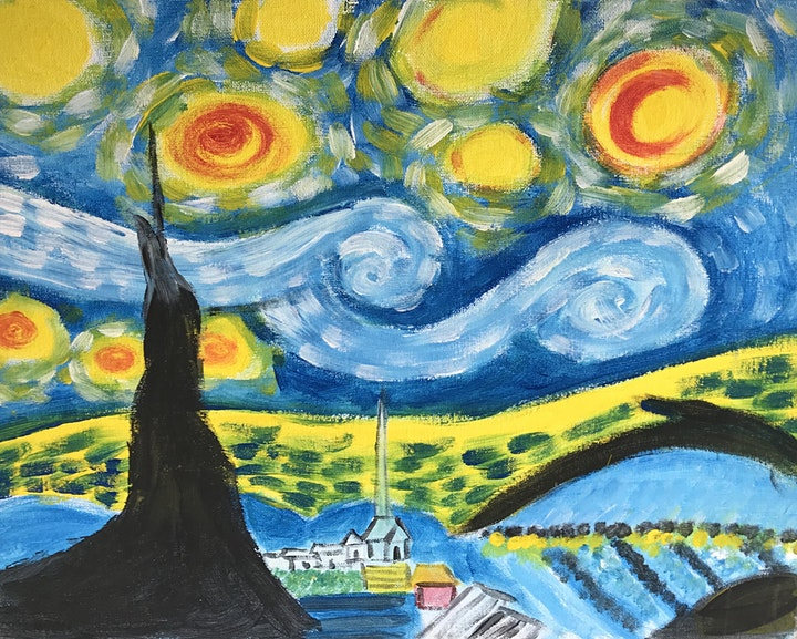 ONLINE Paint Along @ Home -- Be a Van Gogh image