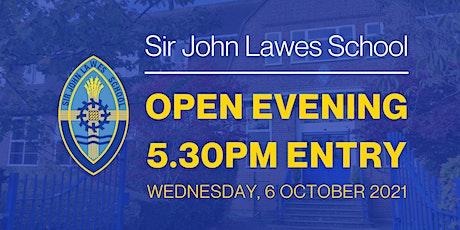 Sir John Lawes School Open Evening 2021 tickets