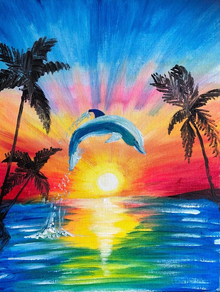 ONLINE Paint Along @ Home -- Dolphin image
