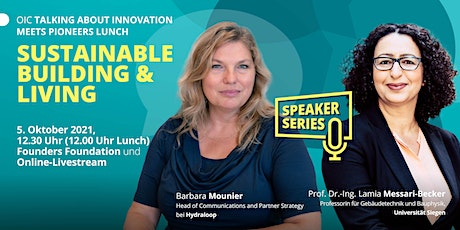 """Talking About Innovation """"Sustainable Building & Living"""" tickets"""