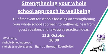 Strengthening your whole school approach to wellbeing tickets