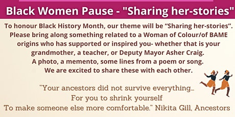 """Black Women Pause - """"Sharing her-stories"""" tickets"""